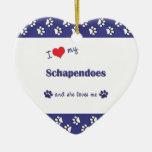 I Love My Schapendoes (Female Dog) Christmas Tree Ornament