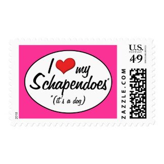 I Love My Schapendoes (It's a Dog) Postage Stamps