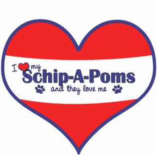 I Love My Schip-A-Poms (Multiple Dogs) Statuette
