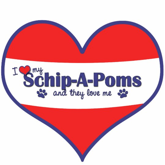 I Love My Schip-A-Poms (Multiple Dogs) Statuette