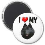 I Love My Schipperke 2 Inch Round Magnet