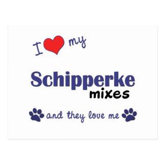 I Love My Schipperke Mixes (Multiple Dogs) Postcard