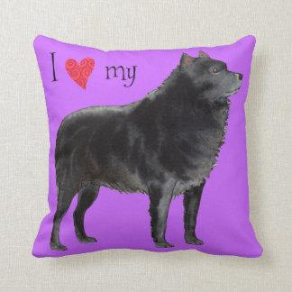 I Love my Schipperke Throw Pillow