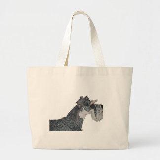 I Love My Schnauzer Canvas Bags
