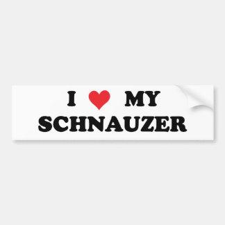 I Love My Schnauzer Car Bumper Sticker