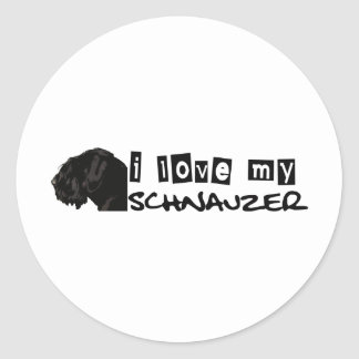 I love my Schnauzer! Classic Round Sticker