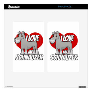 I Love My Schnauzer Decals For Kindle Fire