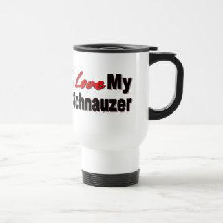 I Love My Schnauzer Dog Gifts and Apparel Travel Mug