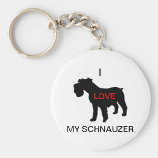 i love my schnauzer keychain