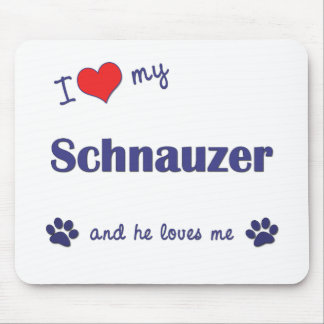 I Love My Schnauzer (Male Dog) Mouse Pad