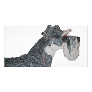 I Love My Schnauzer Photo Card