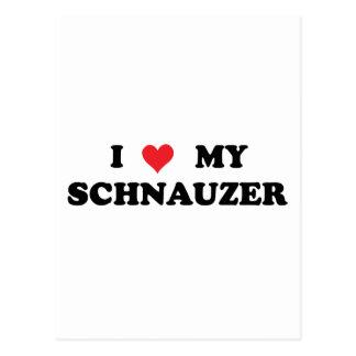 I Love My Schnauzer Postcard