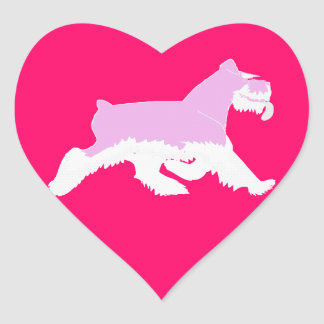 I love my Schnauzer -Sticker Heart Sticker