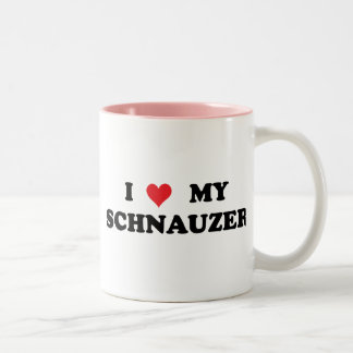 I Love My Schnauzer Two-Tone Coffee Mug