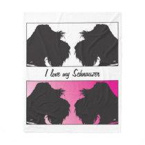 I love my Schnauzers Fleece Blanket