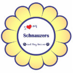 I Love My Schnauzers (Multiple Dogs) Acrylic Cut Outs