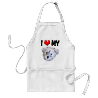 I Love My Schnoodle Adult Apron