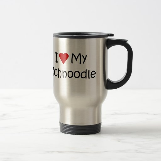I Love My Schnoodle Dog Breed Lover Gifts 15 Oz Stainless Steel Travel Mug