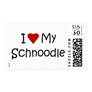 I Love My Schnoodle Dog Breed Lover Gifts Postage