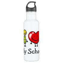 i love my school stainless steel water bottle