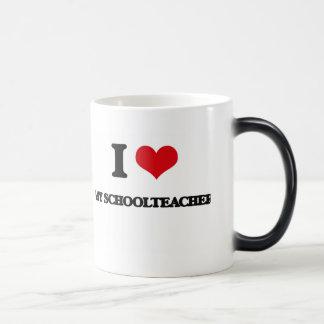 I Love My Schoolteacher 11 Oz Magic Heat Color-Changing Coffee Mug
