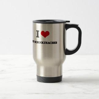 I Love My Schoolteacher 15 Oz Stainless Steel Travel Mug