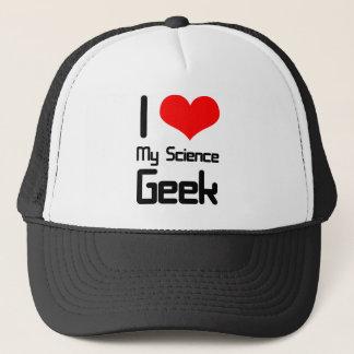 I love my science geek trucker hat