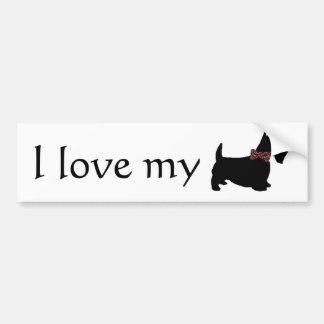 I Love My Scottie Bumper Sticker Car Bumper Sticker
