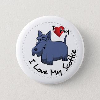 I Love My Scottie Dog Pinback Button