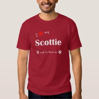 I Love My Scottie (Male Dog) Tee Shirt