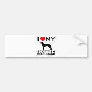 I Love My Scottish Deerhound Car Bumper Sticker