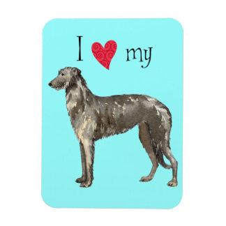 I Love my Scottish Deerhound Magnet