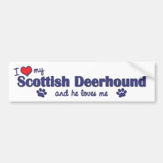 I Love My Scottish Deerhound (Male Dog) Car Bumper Sticker
