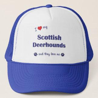 I Love My Scottish Deerhounds (Multiple Dogs) Trucker Hat