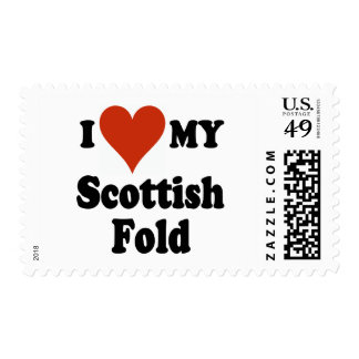 I Love My Scottish Fold Cat Merchandise Postage