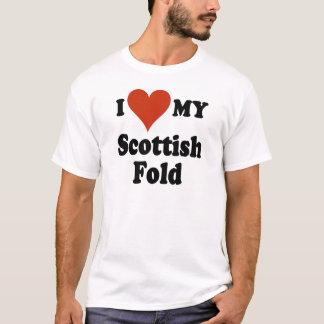 I Love My Scottish Fold Cat Merchandise T-Shirt