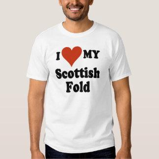 I Love My Scottish Fold Cat Merchandise Tee Shirt