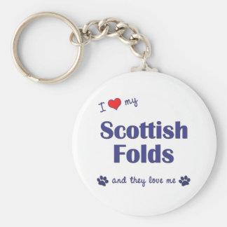 I Love My Scottish Folds (Multiple Cats) Keychains