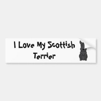 I Love My Scottish Terrier Bumper Sticker
