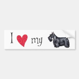 I Love my Scottish Terrier Car Bumper Sticker