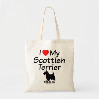 I Love My Scottish Terrier Dog Bag