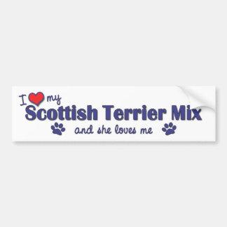 I Love My Scottish Terrier Mix (Female Dog) Car Bumper Sticker