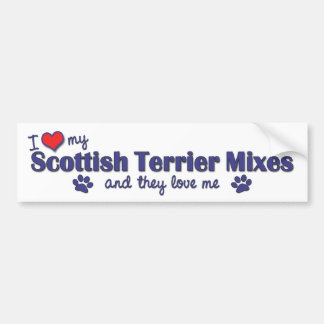 I Love My Scottish Terrier Mixes (Multiple Dogs) Bumper Sticker