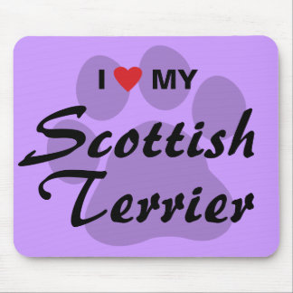 I Love My Scottish Terrier Mouse Pad
