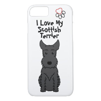 I Love My Scottish Terrier Phone Case