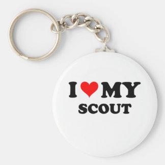 I Love My Scout Basic Round Button Keychain