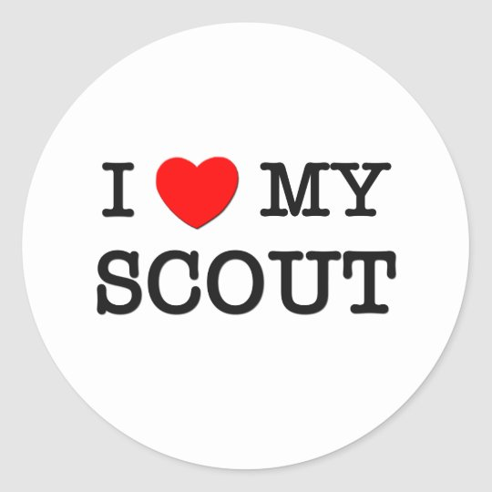 I Love My SCOUT Classic Round Sticker