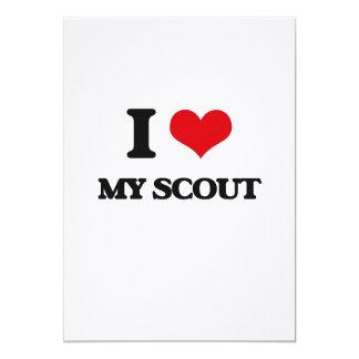 I Love My Scout 5x7 Paper Invitation Card