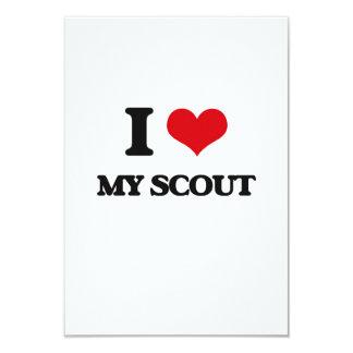 I Love My Scout 3.5x5 Paper Invitation Card