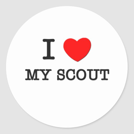 I Love My Scout Stickers
